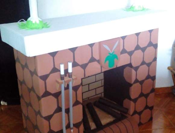 chimenea decorativa escandinava
