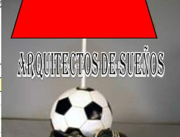 lampara estilo futbol