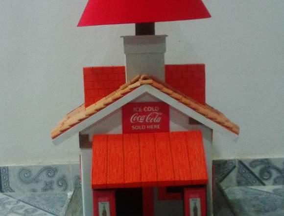 lampara decorativa casa de coca-cola