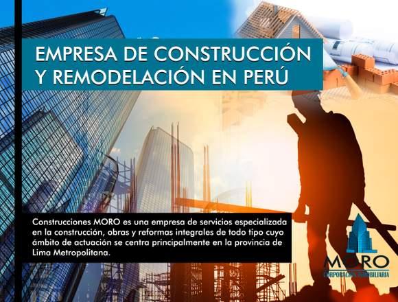 CONSTRUCCIÓN Y REMODELACIÓN EN PERÚ