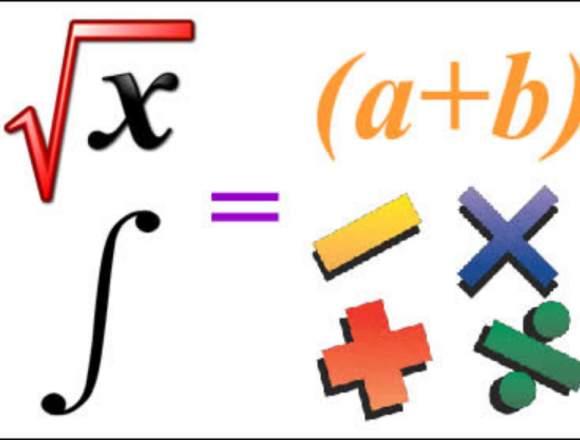 Asesorías de matemática, física, quimica e inglés