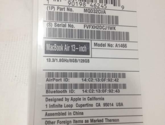 "Vendo MacBook Air 13"" sellada fabrica"