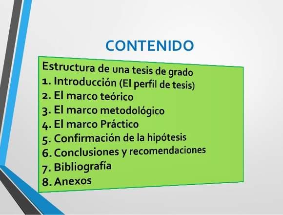 ASESORIAS EN PROYECTOS DE GRADO, ENSAYOS, TESIS