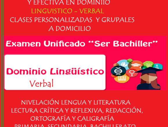 "EXAMEN ""SER BACHILLER"" CLASES RAZONAMIENTO VERBAL"