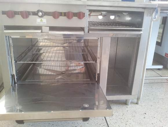 Cocina industrial 4 hornillas horno gratin plancha