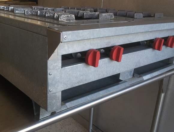 Tope de cocina 4 hornillas a gas cocina industrial