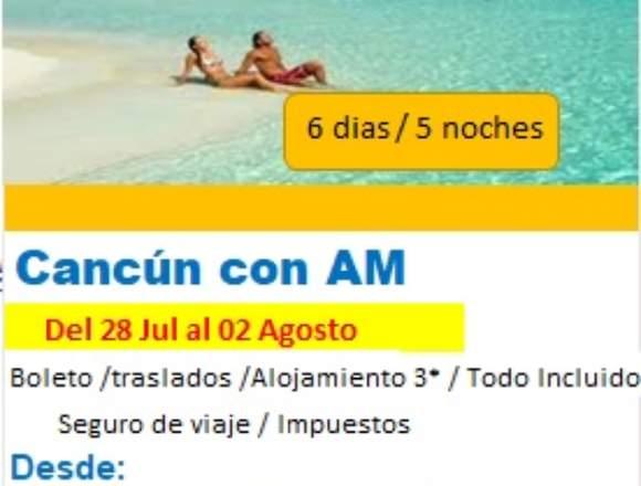 Viaje a Cancun en fiestas Patrias 2020