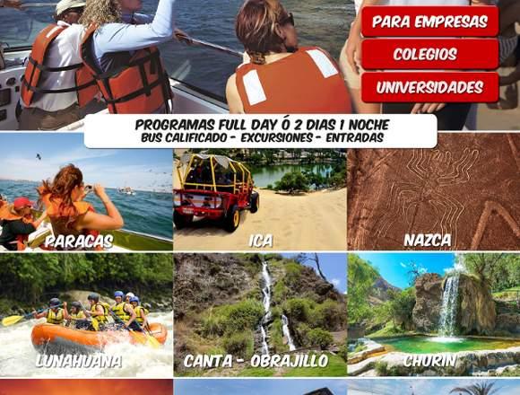 Full days para escolares y universitarios LIMA