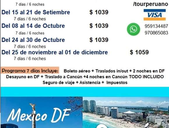 Viaje a Cancún y Distrito Federal Mexico