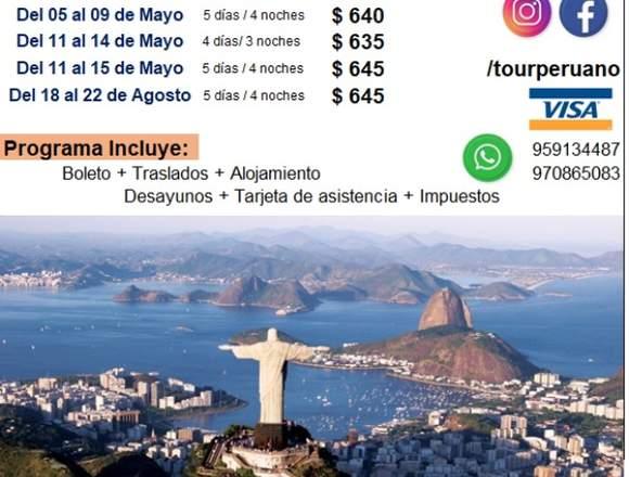 Viaje a Rio de Janeiro Brasil barato en familia