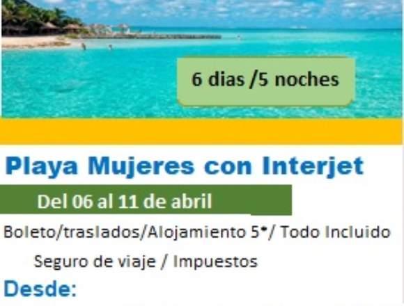 Playa Mujeres viaje familiar oferta