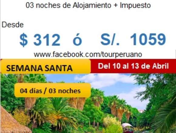 Semana Santa full tours en Tarapoto
