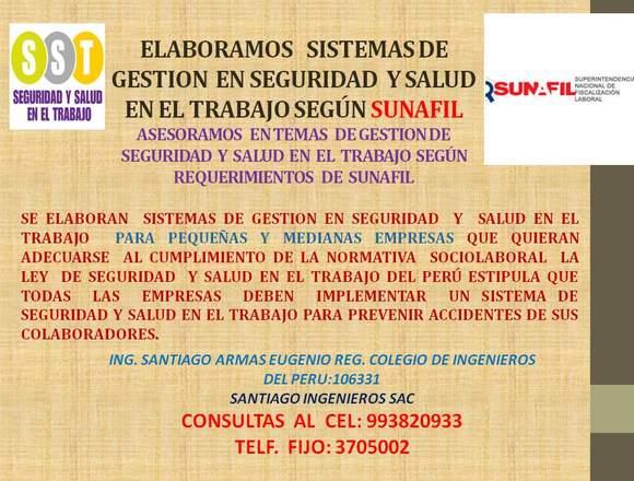 GESTION DE SEGURIDAD Y SALUD EN EL TRABAJO