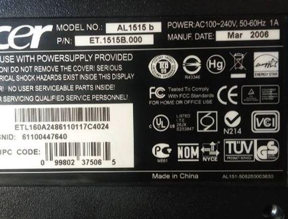 Monitor LED ACER 15'