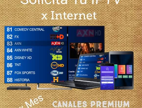 Solicita tu IPTV x Internet