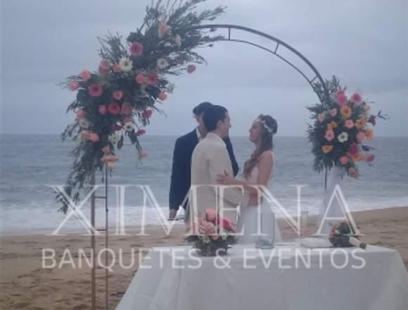 Banqueteria Fina Matrimonios en la Playa