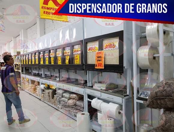 DISPENSADOR DE GRANOS ECONOMICO Y DE ALTA CALIDAD.