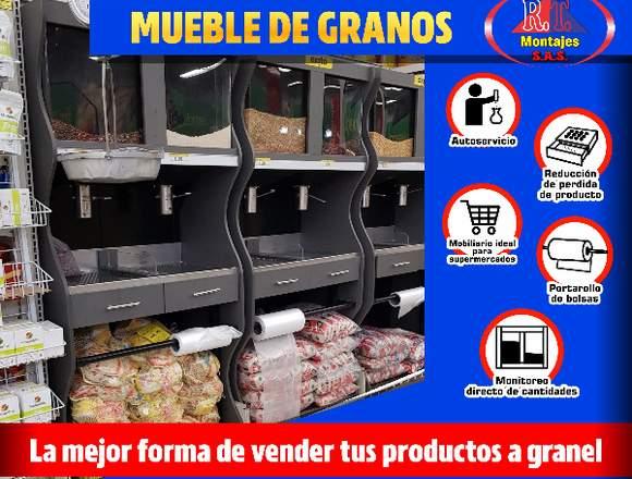 MUEBLE DISPENSADOR DE GRANOS
