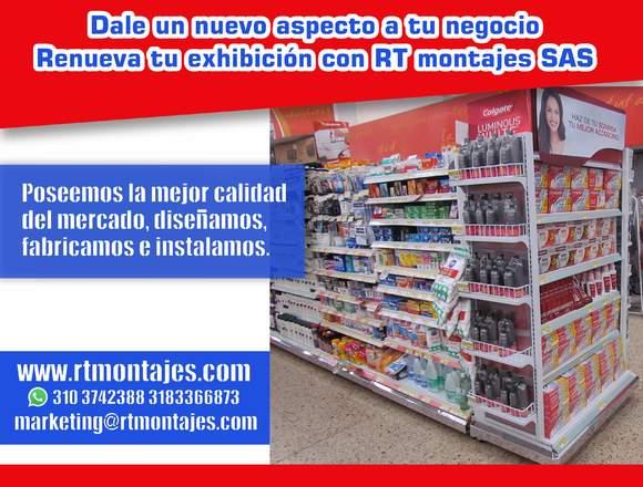 Góndola para supermercado Nueva y Remanufacturada