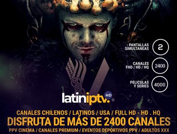 Televisión IPTV 2400 Canales / Cine / Deportes PPV