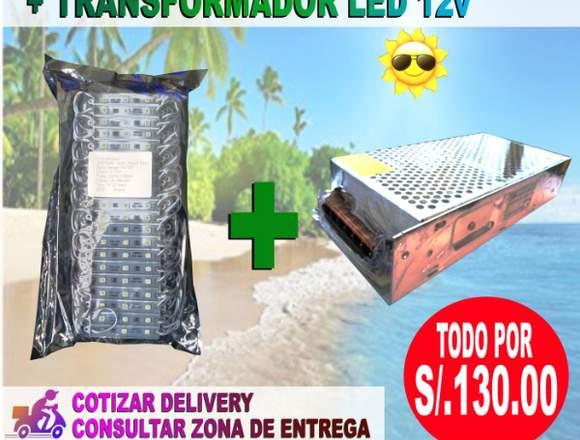 200 modulos led + transformador LED
