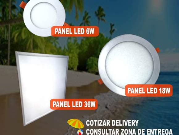 Paneles LED 6 - 18 - 36 w