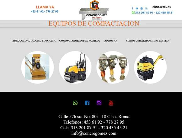 ALQUILER DE MAQUINARIA PARA CONSTRUCCION