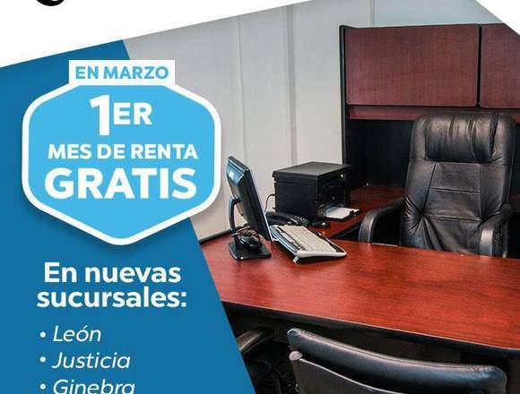 RENTA DE OFICINA PARA 4 PERSONAS EQUIPADA
