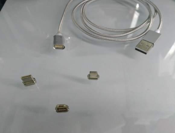 Cables Imantados Con 3 Entradas