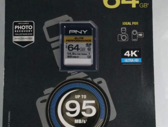 Memoria SD PNY 64GB 100% Original