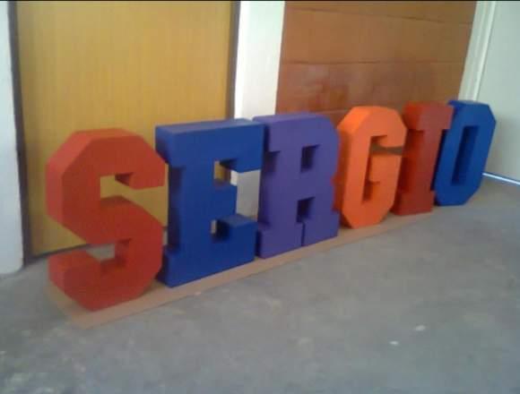 Letras Gigantes 3ds 50cm Alto bodas 15 Años