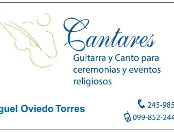 CANTARES-Guitarra y canto para ceremonias religios