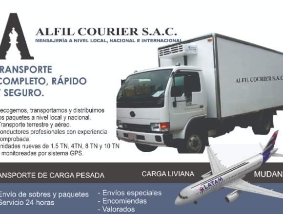 Transporte de carga terrestre y aérea