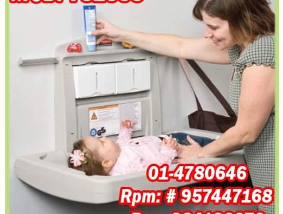 Cambiador de bebé para pared rubbermaid