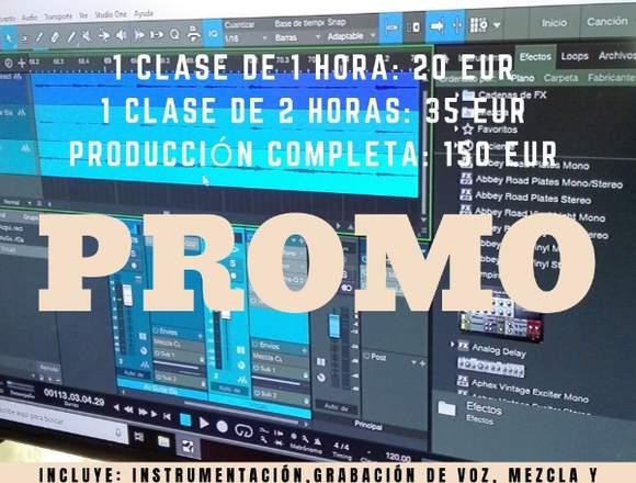 CURSO DE PRODUCCIÓN MUSICAL SONIDO, GRABACIÓN