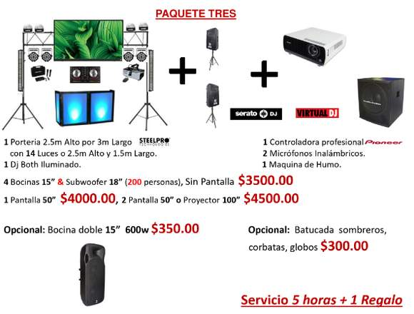Dj Fiesta, Audio y iluminacion