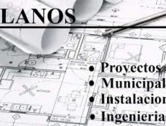 PROYECTOS PLANOS OBRAS TRAMITES