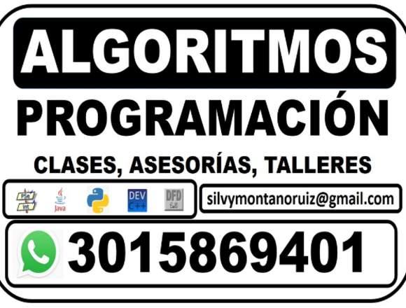 Algoritmos, Programas, Solución de problemas.