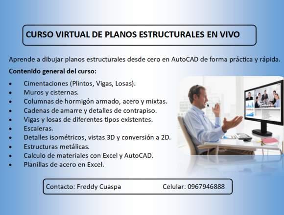 CURSO VIRTUAL DE PLANOS ESTRUCTURALES EN VIVO