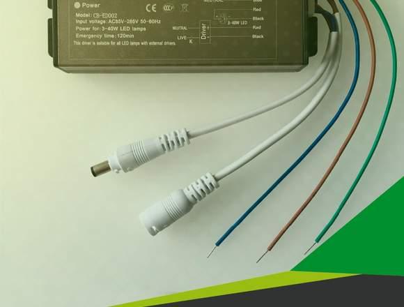 Kit Emergencia Para panel LED de 3 a 40W