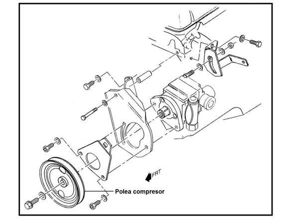 Polea compresor CHEVROLET KODIAK, C70, B60