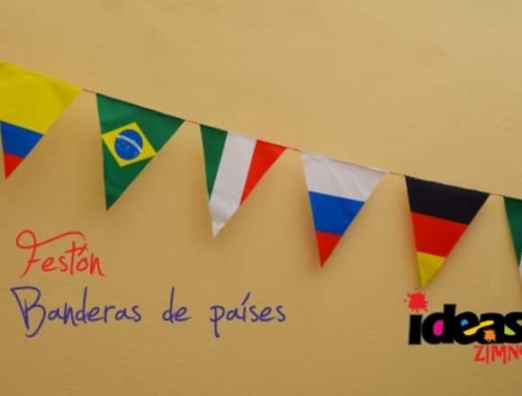banderines publicitarios, decoración eventos