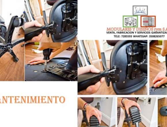 Reparación de  sillas     giratorias