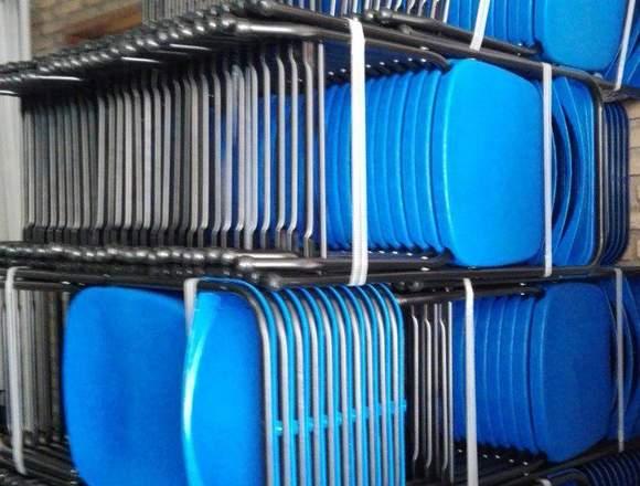 silla fiesta plegable de plastico reforzada