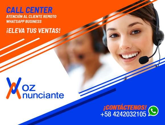 VOZ ANUNCIANTE: CALL CENTER