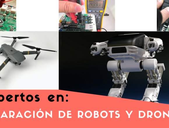 Reparación y mantenimiento de robots y drones