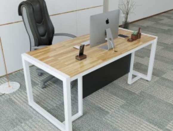 escritorios hierro y madera