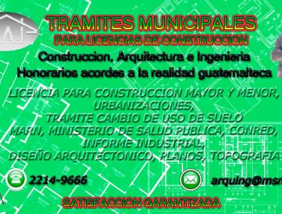 Licencia de construcción, diseño y  construcción.
