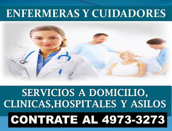 Enfermeras a domicilio y servicios de cuidadores