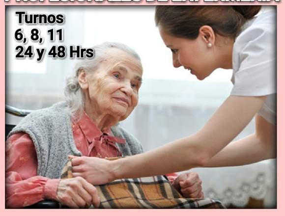 Servicios de enfermeras y cuidadoras a domicilio